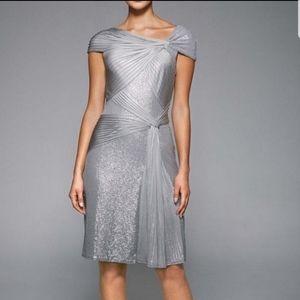 Tadashi Shoji Metallic Pailettes Cocktail Dress